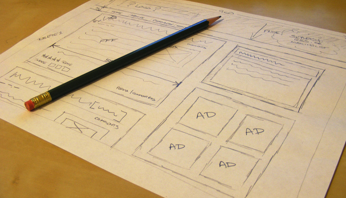sketch paper low fidelity wireframing