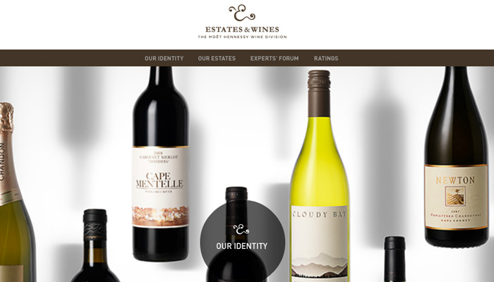estates and wines winery homepage