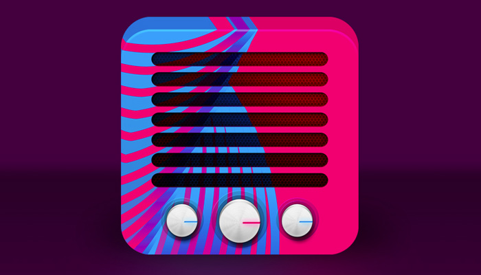 pink colorful rive radio android app icon