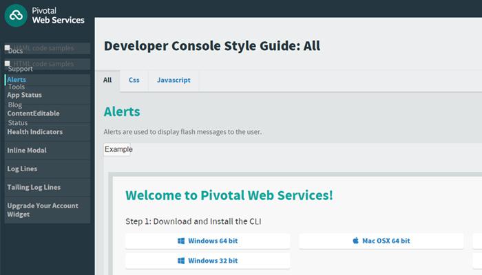 pivotal web services website
