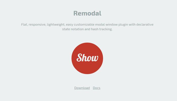 remodal homepage modal window github