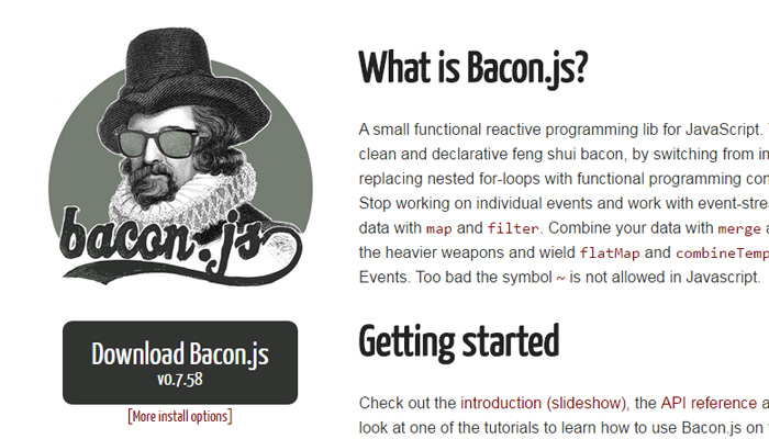 bacon js javascript open source