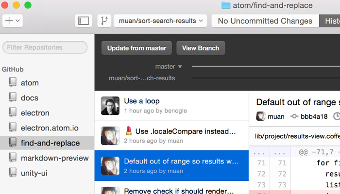 GitHub Desktop OSX screenshot