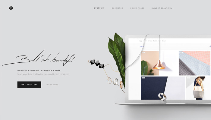squarespace cms homepage layout