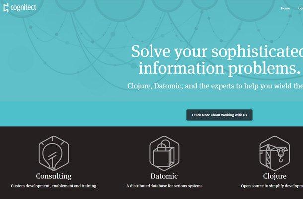cognitect blue closure background website