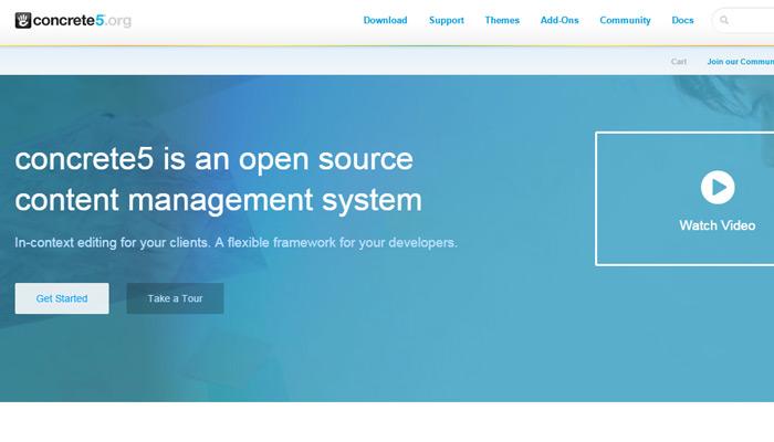 concrete5 cms open source