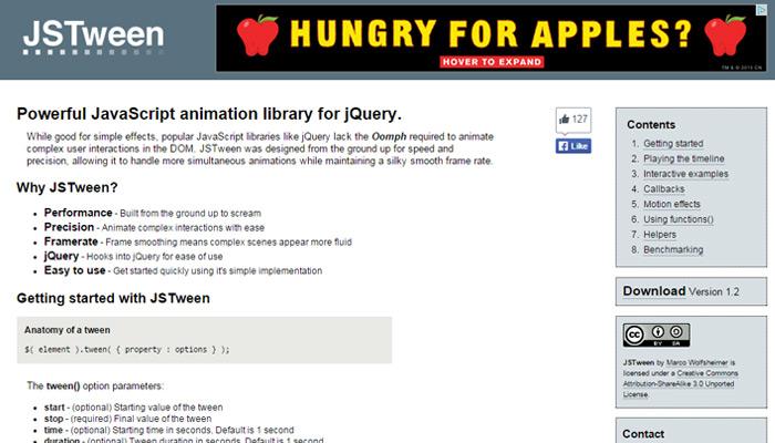 js tween javascript animation library