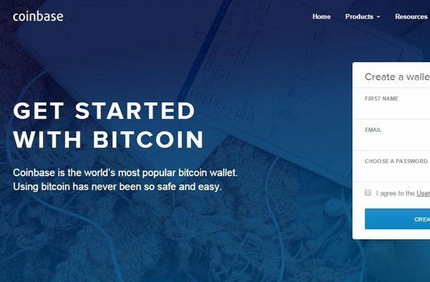 bitcoin wallet coinbase website