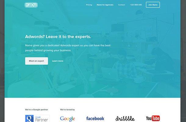 flat website marketing company design