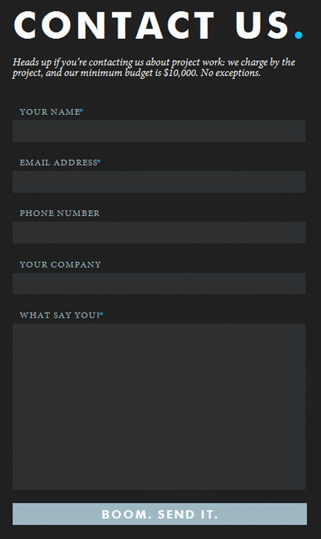 25 Amazingly Creative Contact Forms