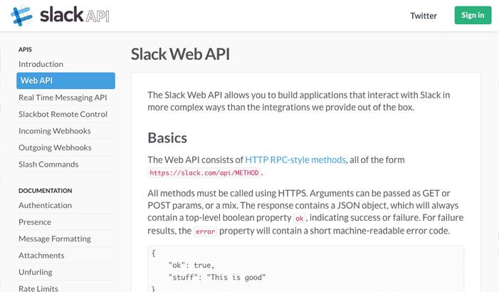 Generating the Slack API token