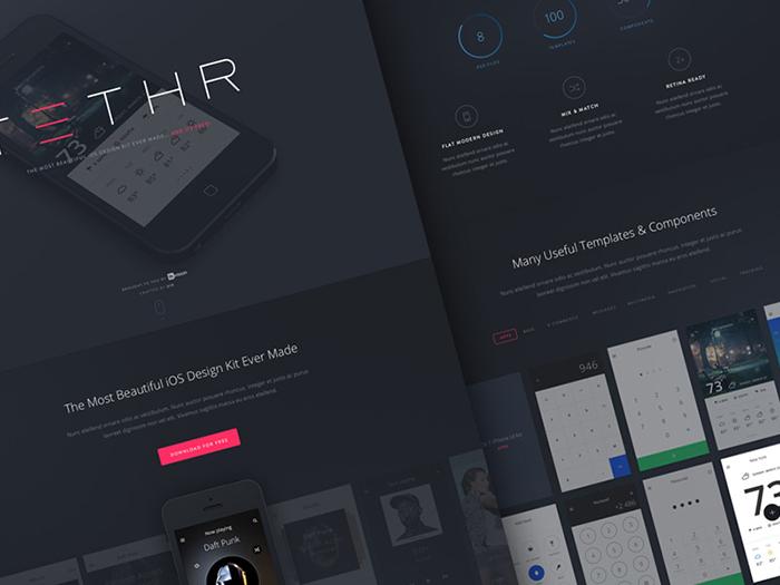 Tethr UI Kit by InVision App