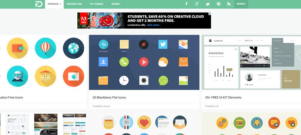 flat freebies design homepage