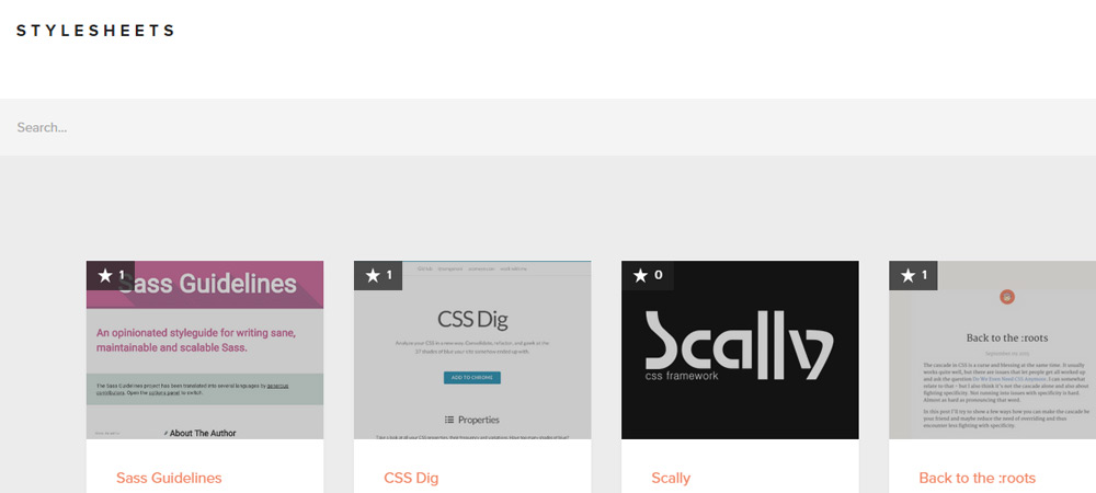 Stylesheets homepage