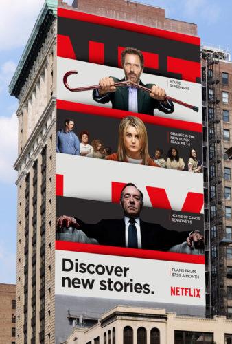 Netflix brand side building