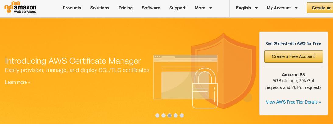 Amazon Web Services Now Offers Free SSL/TLS - Web Design Ledger