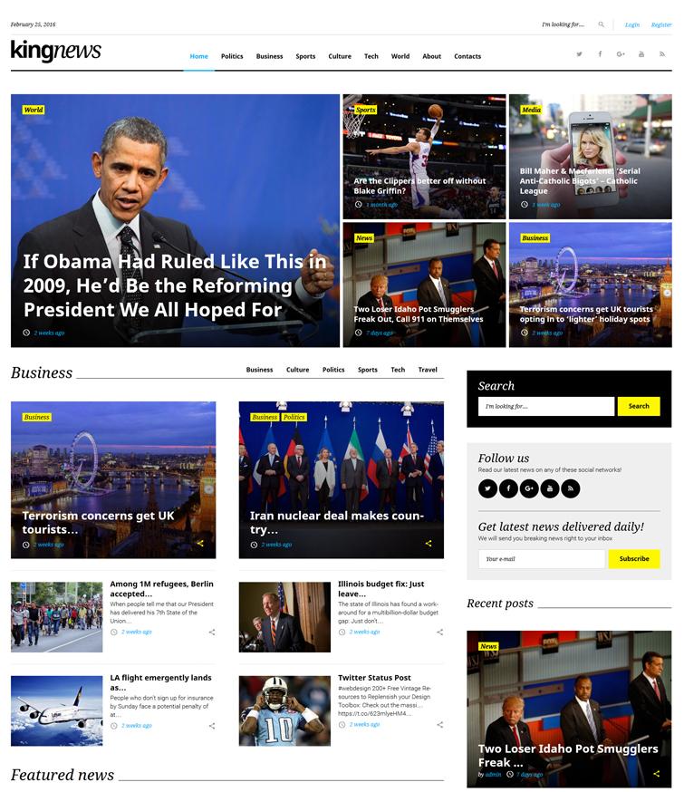 kingnews - one of the best blogging WordPress themes