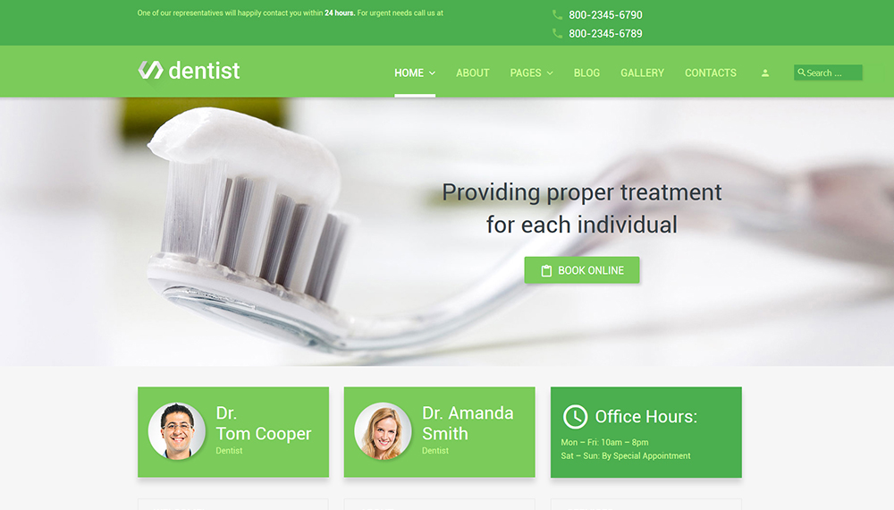 Dentist Joomla 3 template