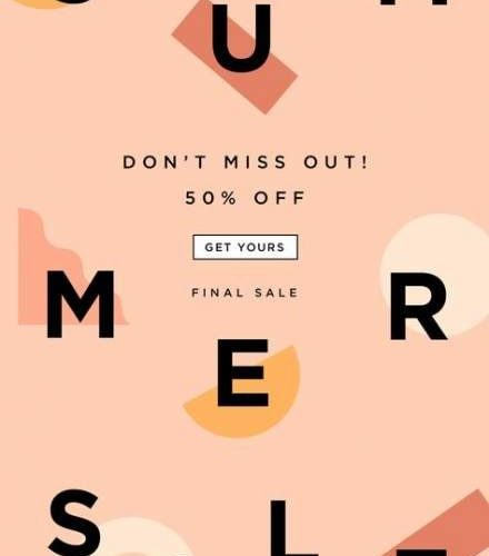 summer sale campaign newsletter pink