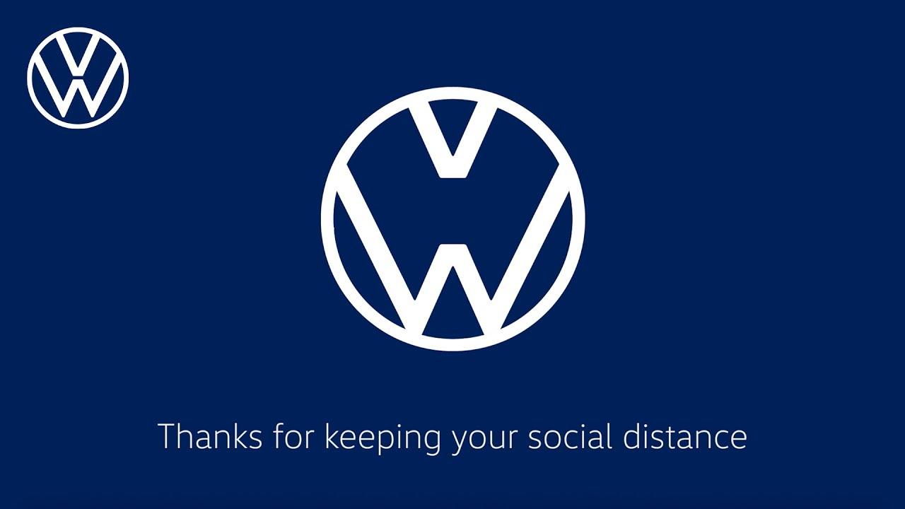 volkswagen social distancing logo