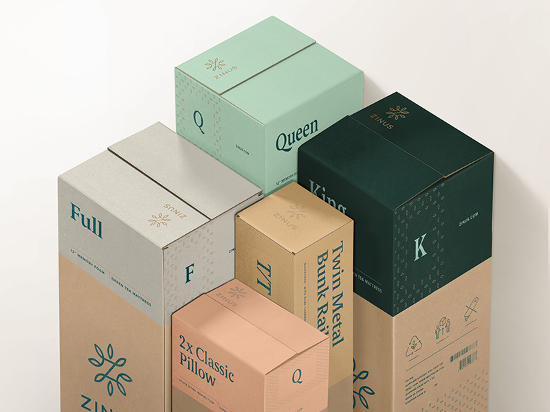 zinus-packaging-design box