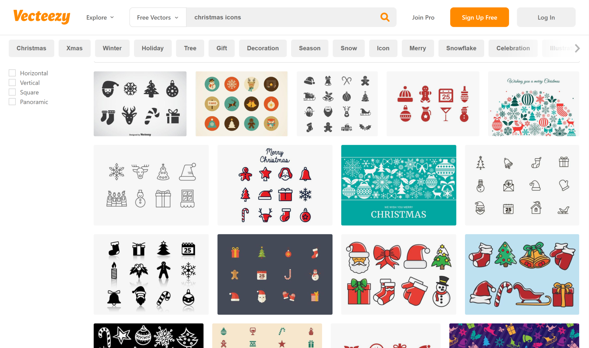 free vectors for christmas holidays