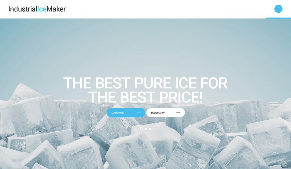 Ice Vending Machines Web Template