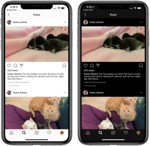 instagram dark vs light mode