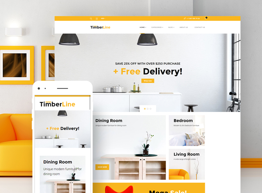 Timberline - Furniture Store WooCommerce Theme