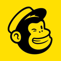 chimp on yellow background logo mail chimp