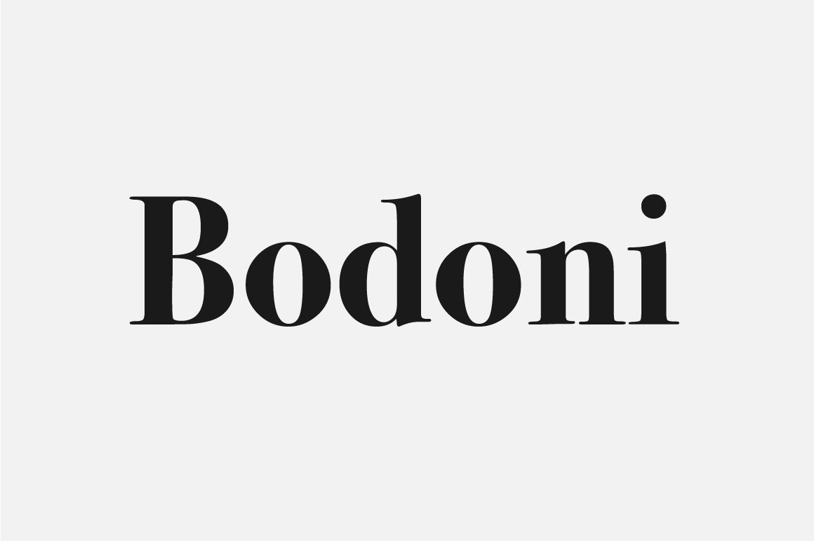 bodoni logo font