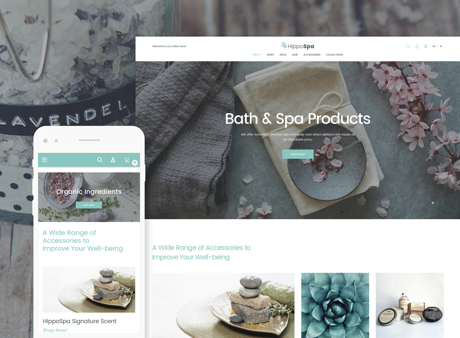 HippoSpa Magento Theme