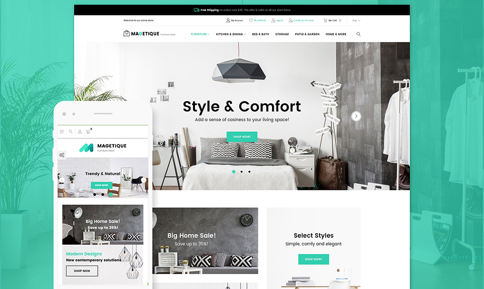 Modern Furniture Magento 2 Store