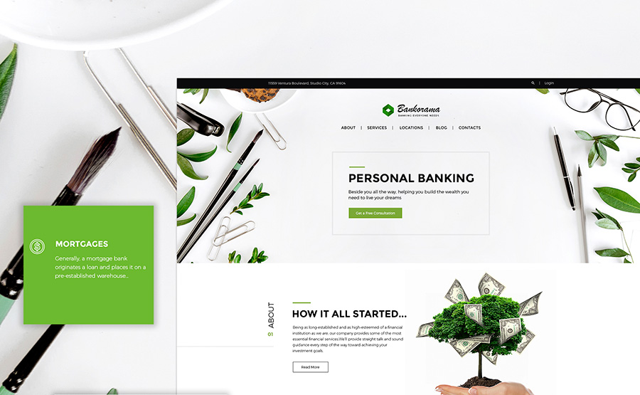 Bank WordPress Theme