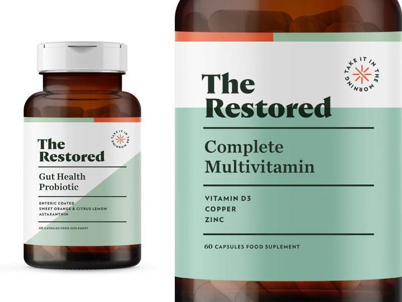 the restored womens vitamins packaging design ideas