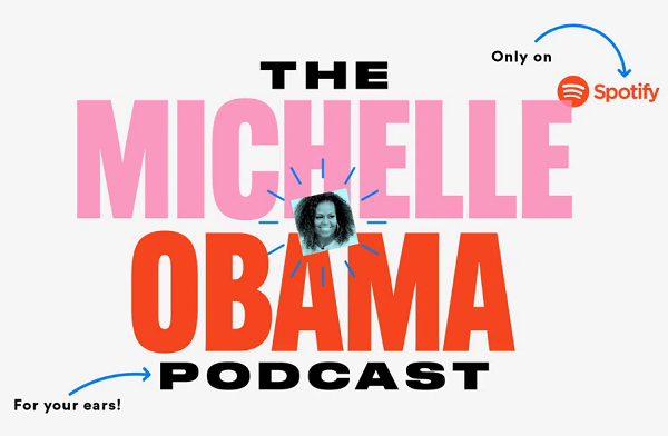 Michelle Obama Podcast New Logo Design