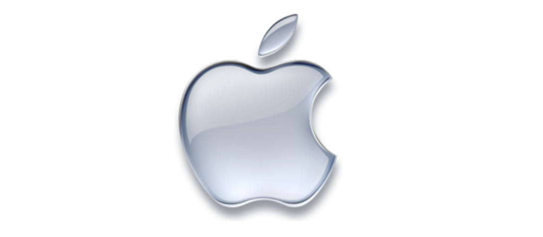 monochromatic apple logo 1998 to present