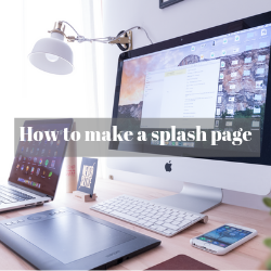 how to create a splash page