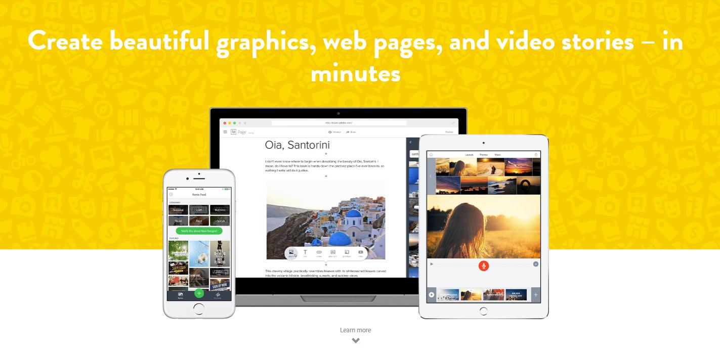 free insta story app adobe spark