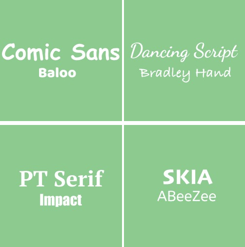The Right Pairs of Fonts