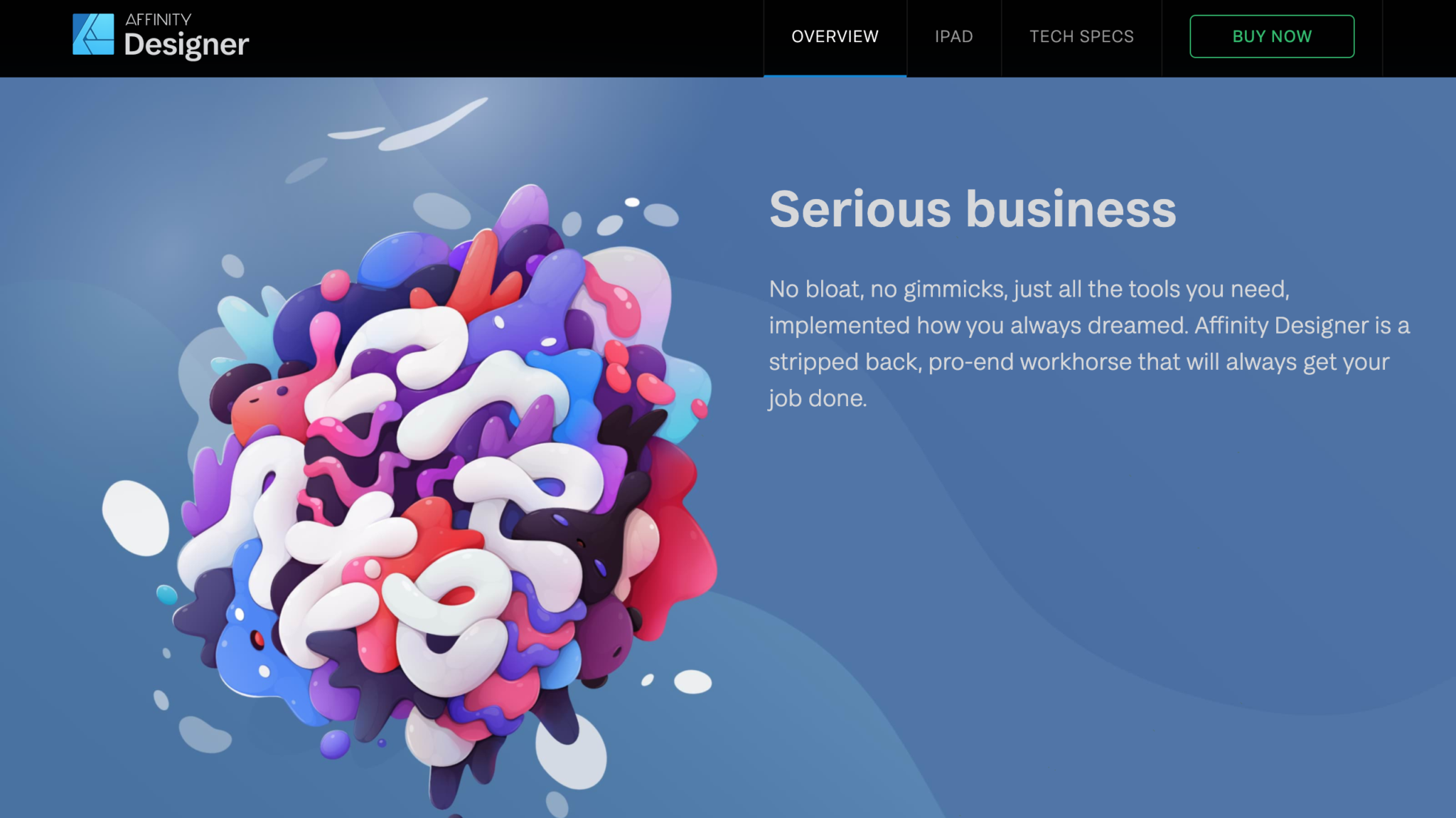 Affinity Designer Products Homepage
