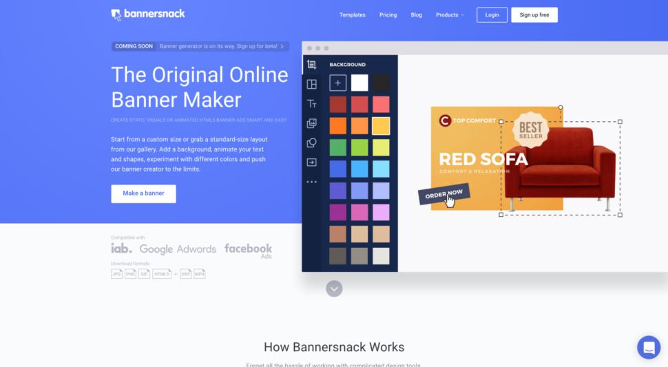 Bannersnack website design