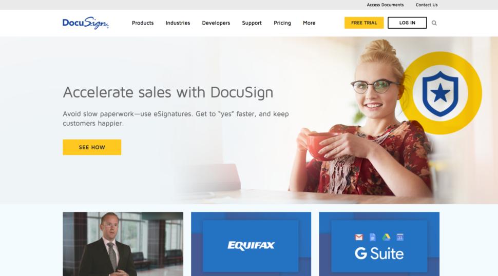docusign website design