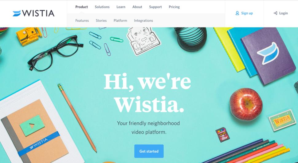 wistia website design