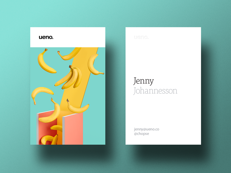 ueno rebrand business cards 3 - Business Card Design Inspiration