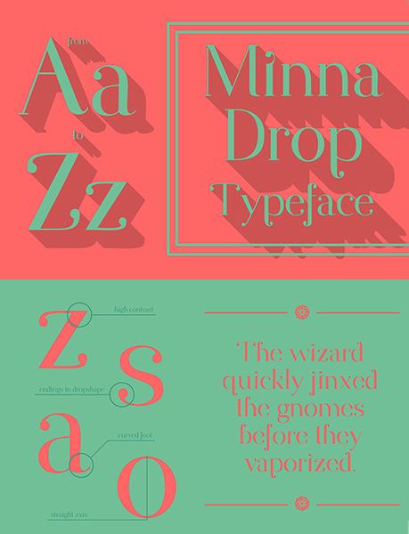 free fall font