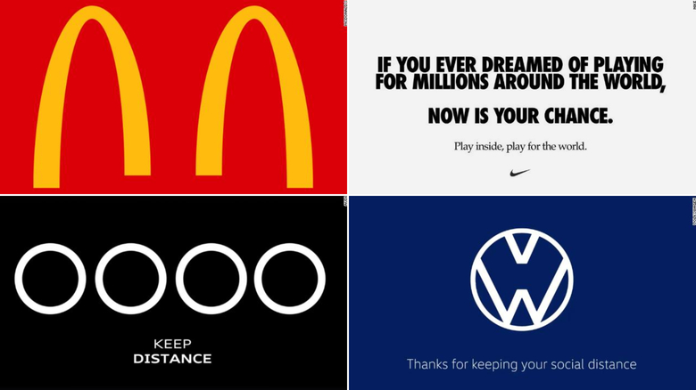 brands creating social distancing logos