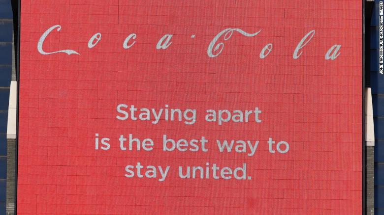 coca-cola logo social distancing
