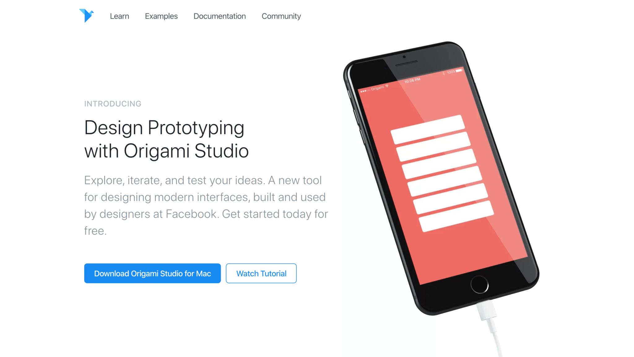 origami studio free prototyping tool design