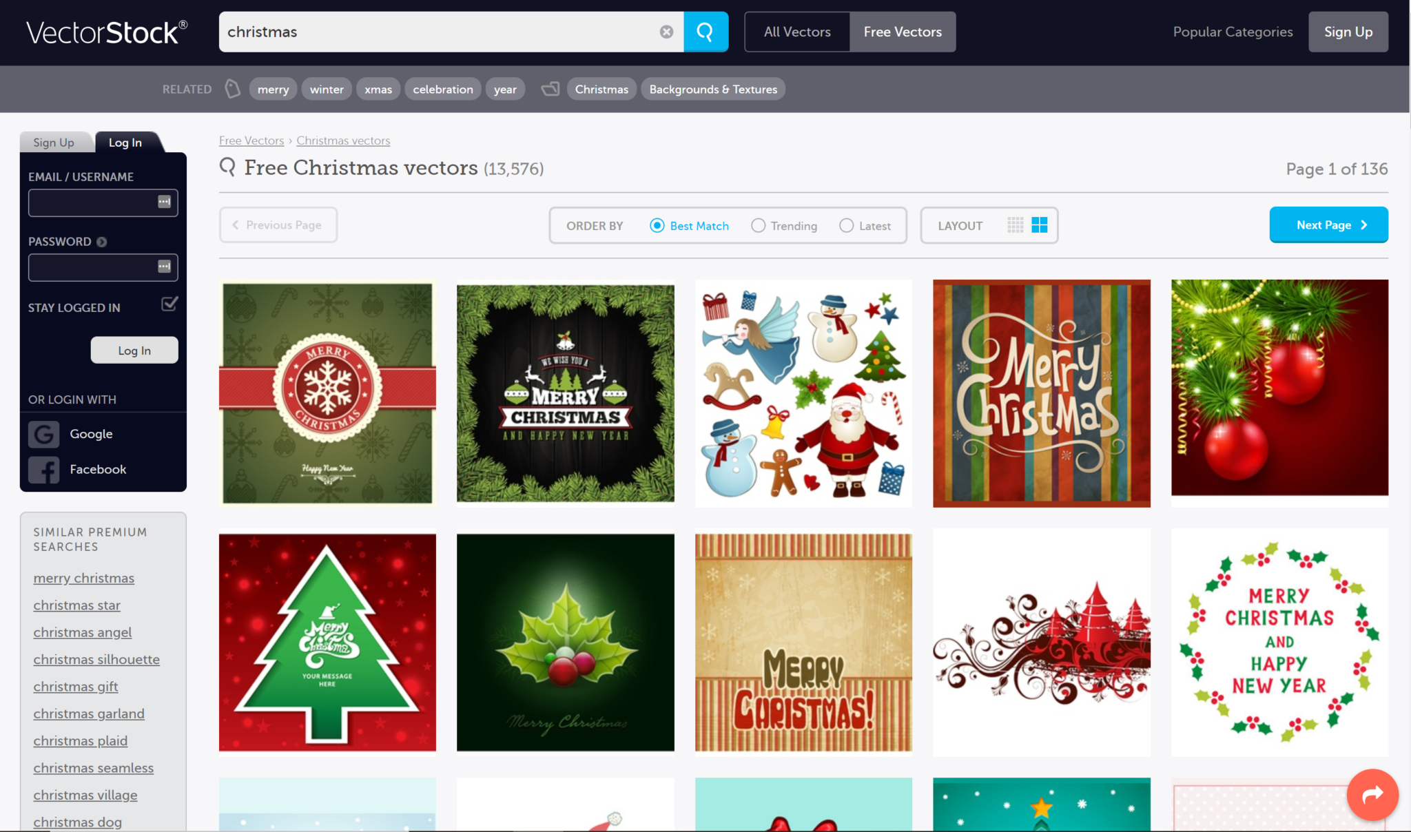 free christmas vectors design